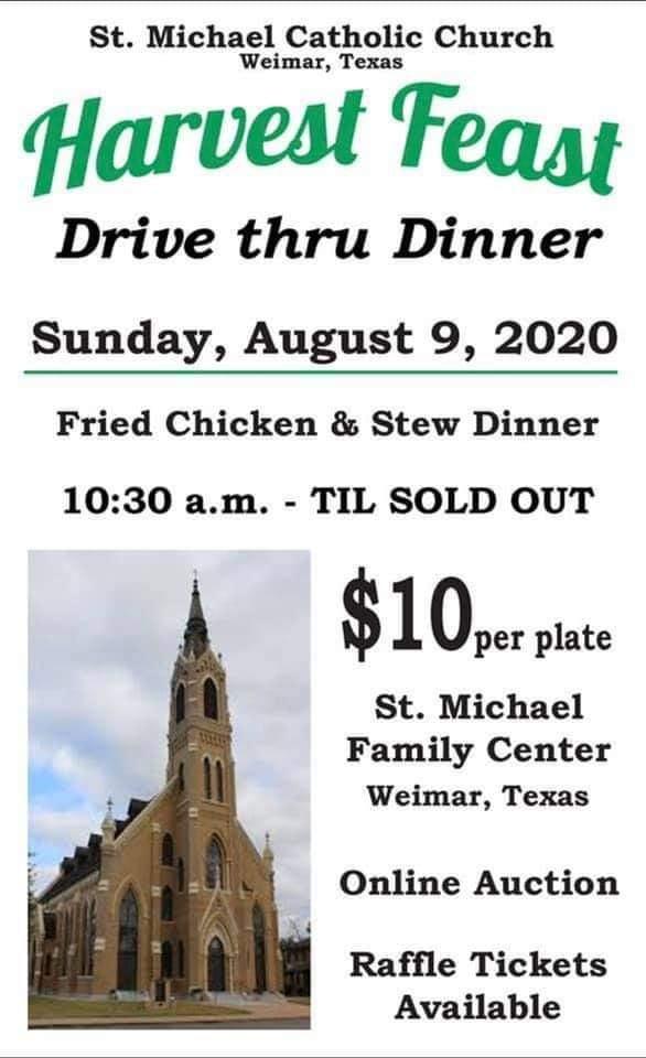St. Michael Harvest Feast Drive Thru Meal @ St. Michael Family Center