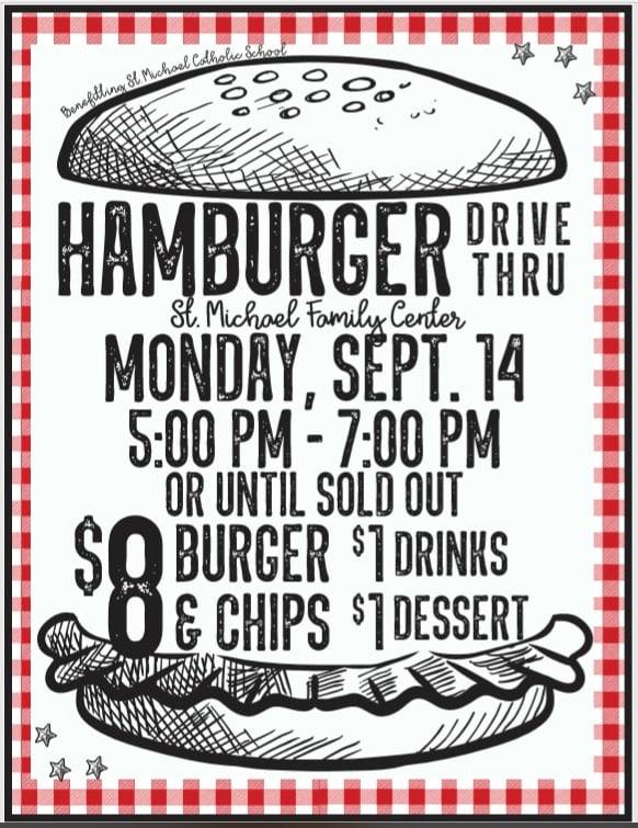 Hamburger Drive Thru Meal @ St. Michael Family Center